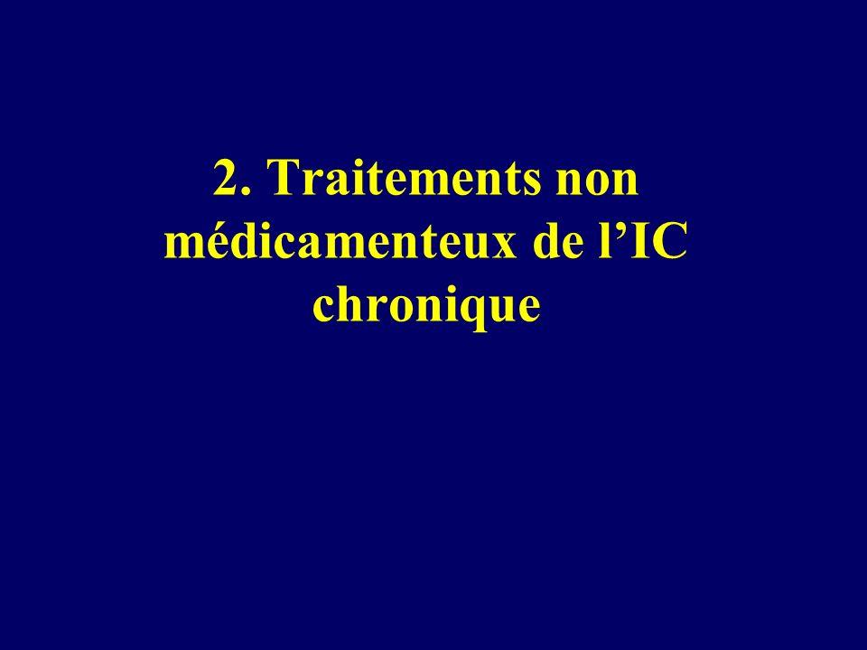 2. Traitements non médicamenteux de l'IC chronique