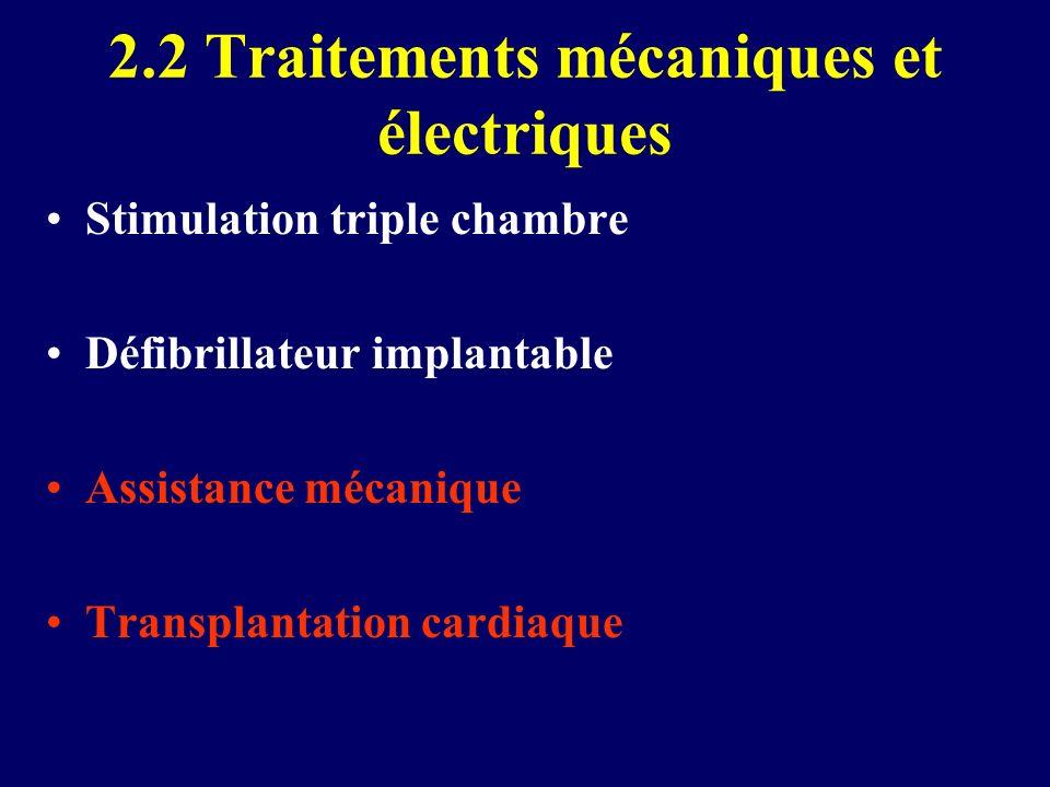 2.2 Traitements mécaniques et électriques