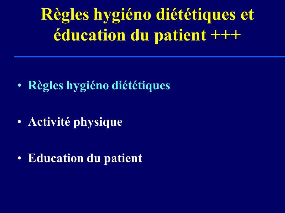 Règles hygiéno diététiques et éducation du patient +++