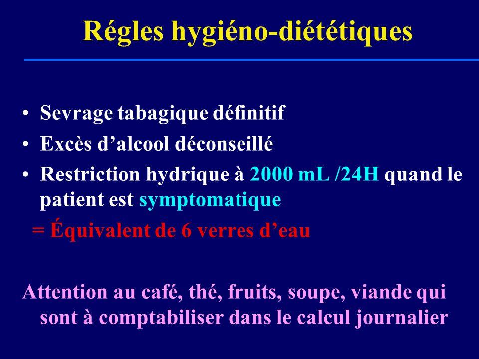 Régles hygiéno-diététiques