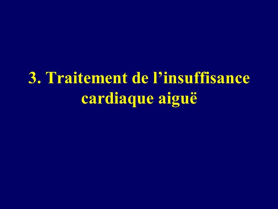 3. Traitement de l'insuffisance cardiaque aiguë