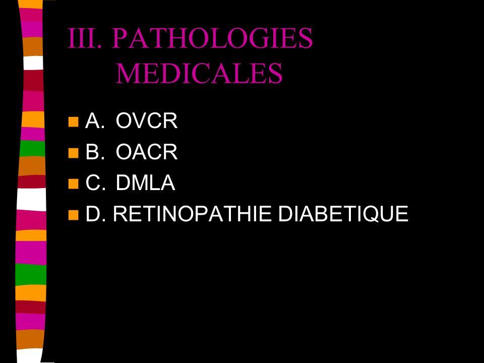 III. PATHOLOGIES MEDICALES