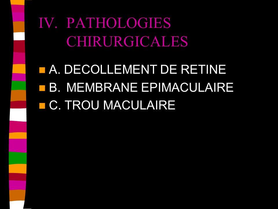 IV. PATHOLOGIES CHIRURGICALES