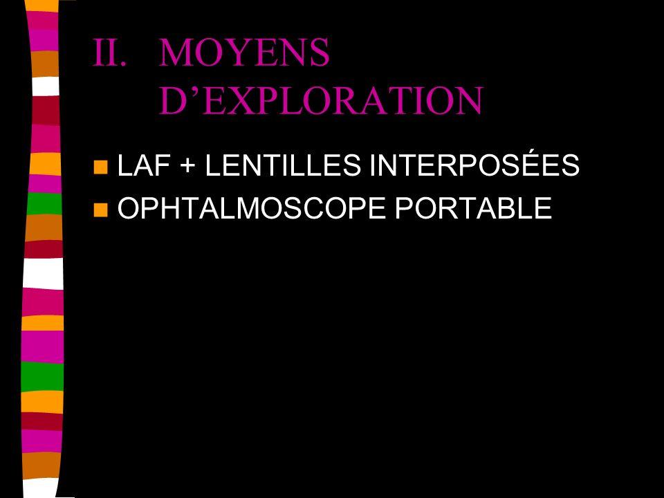 II. MOYENS D'EXPLORATION