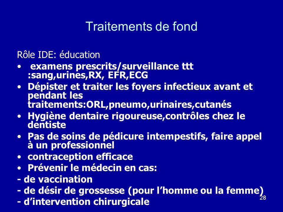 Traitements de fond Rôle IDE: éducation