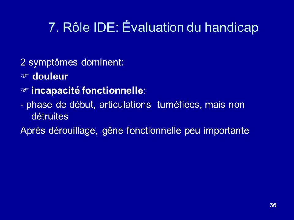 7. Rôle IDE: Évaluation du handicap