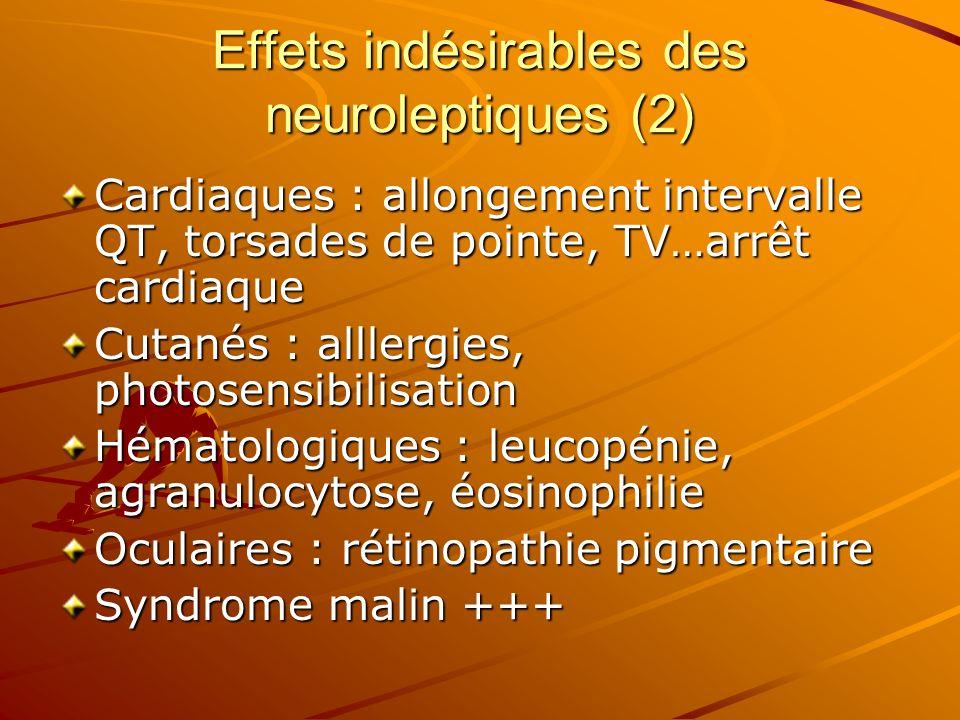 Effets indésirables des neuroleptiques (2)