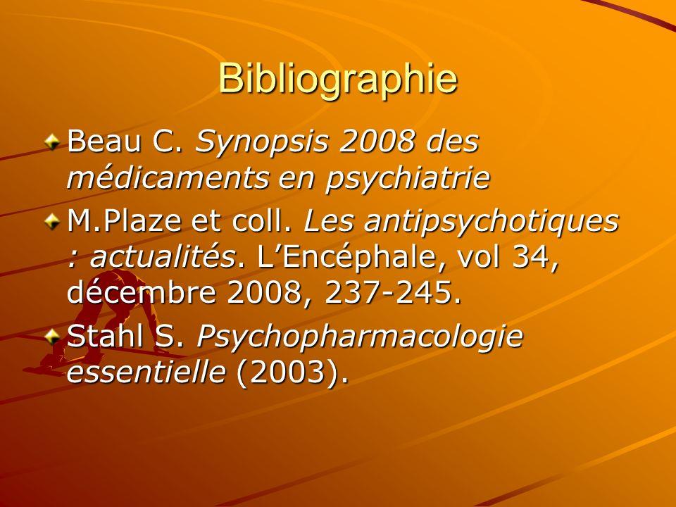Bibliographie Beau C. Synopsis 2008 des médicaments en psychiatrie