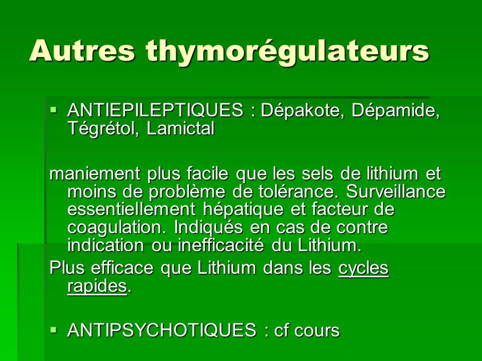 Autres thymorégulateurs