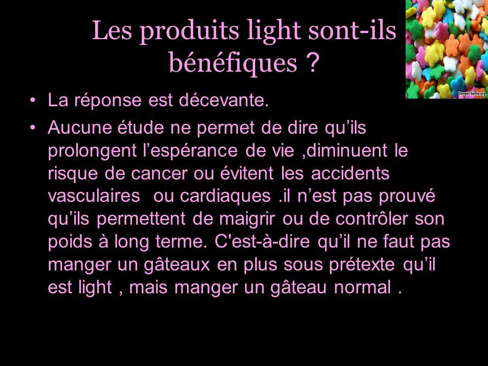 Les produits light sont-ils bénéfiques
