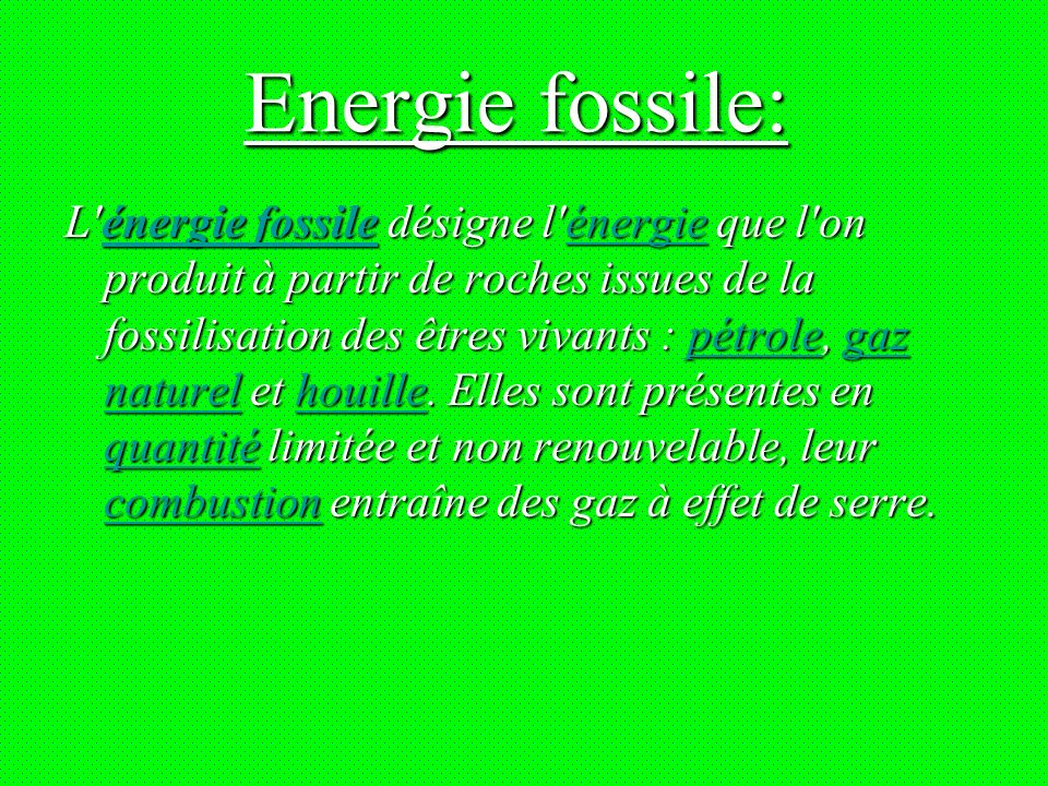 Energie fossile:
