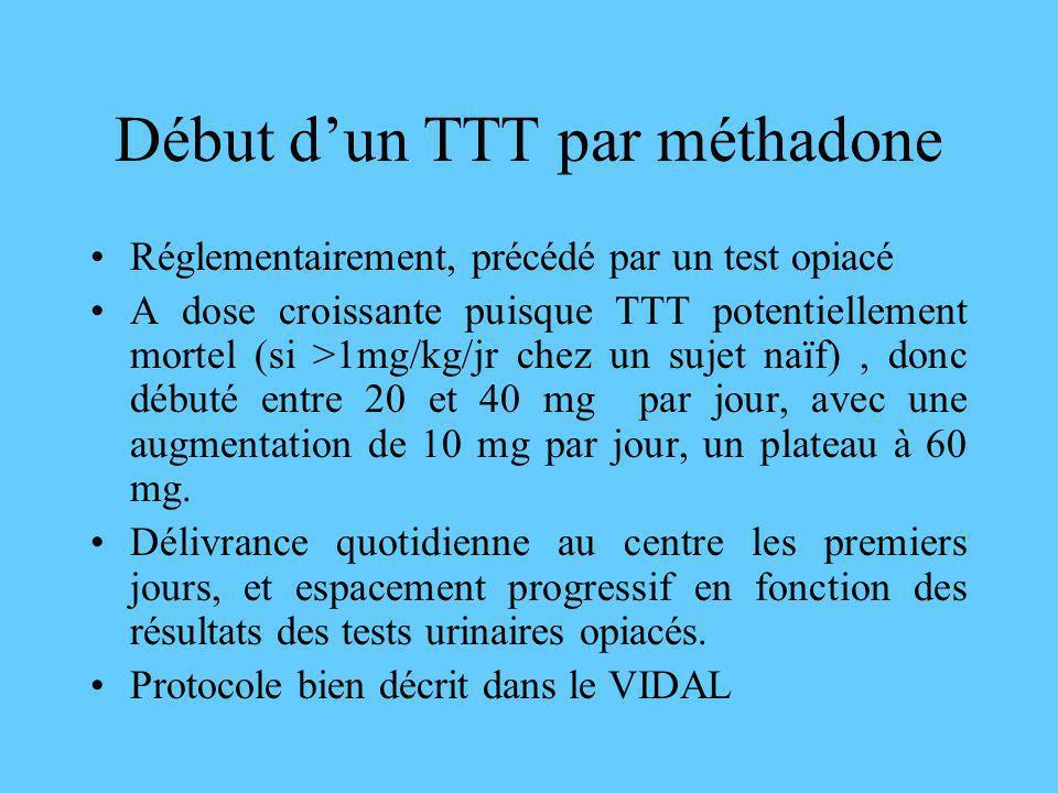 Début d'un TTT par méthadone