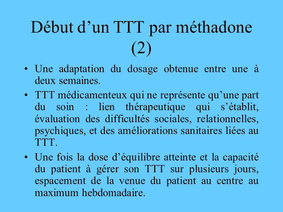 Début d'un TTT par méthadone (2)