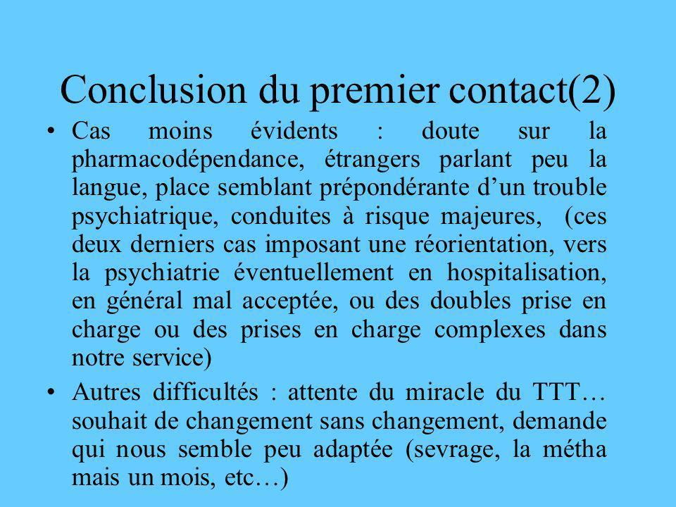Conclusion du premier contact(2)