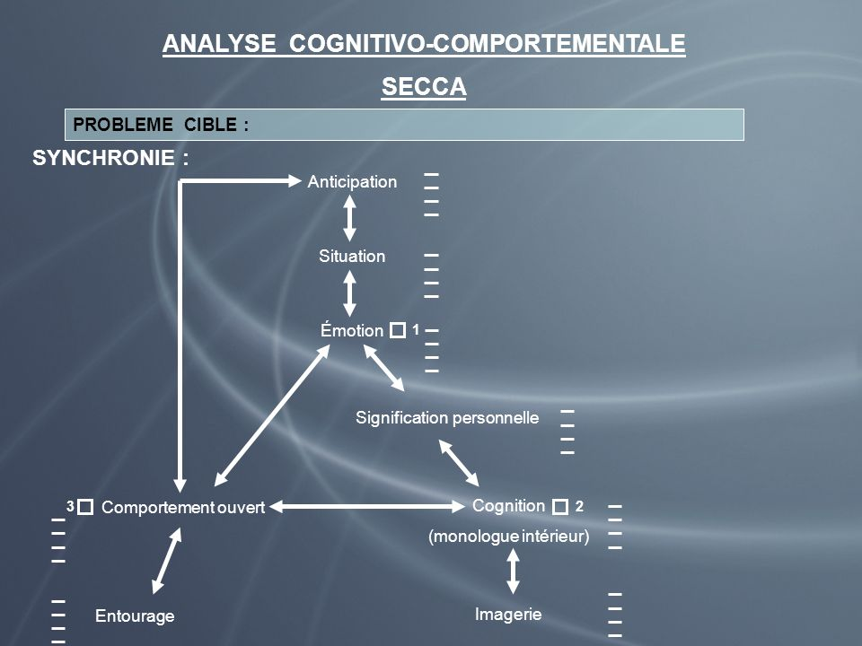 ANALYSE COGNITIVO-COMPORTEMENTALE