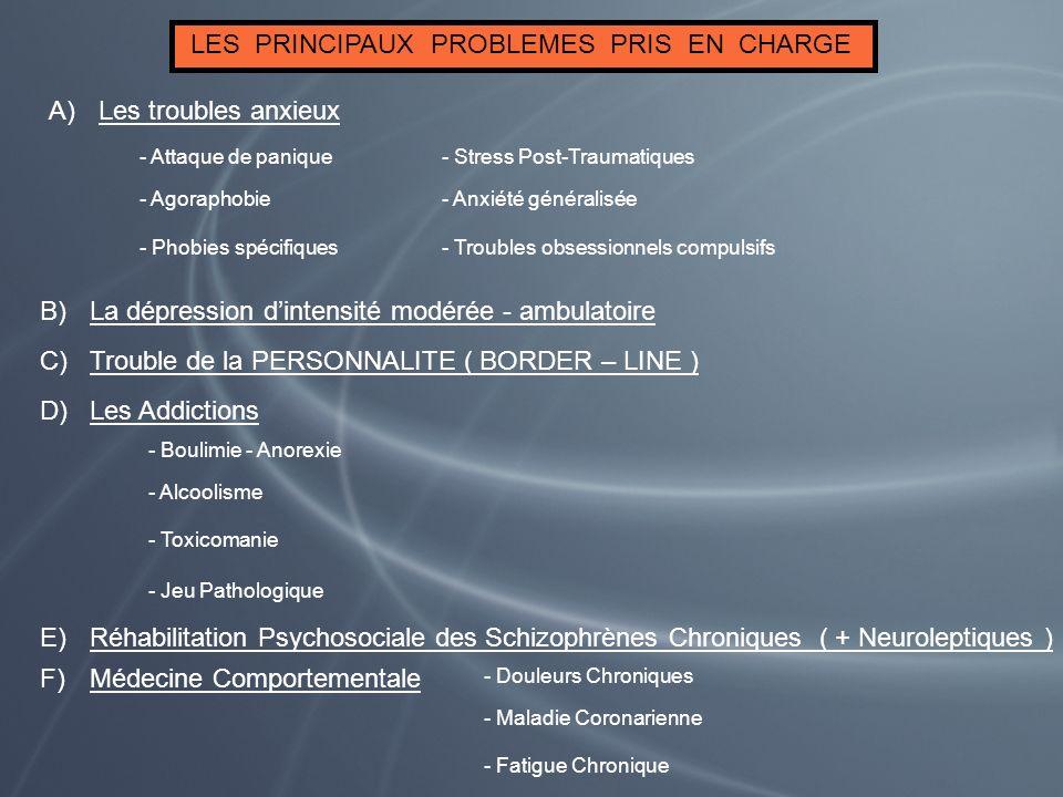 LES PRINCIPAUX PROBLEMES PRIS EN CHARGE