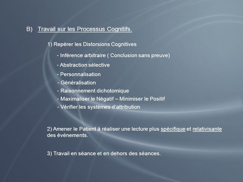 Travail sur les Processus Cognitifs.