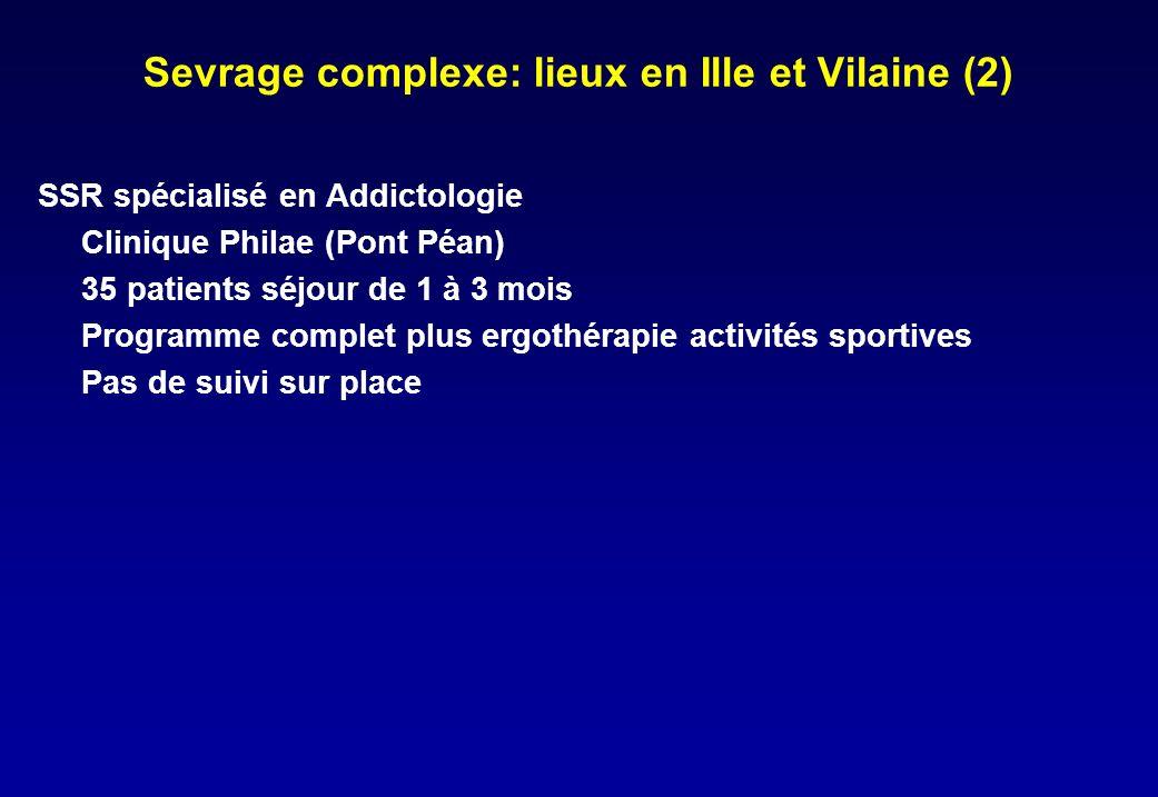Sevrage complexe: lieux en Ille et Vilaine (2)
