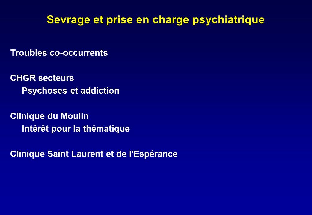 Sevrage et prise en charge psychiatrique