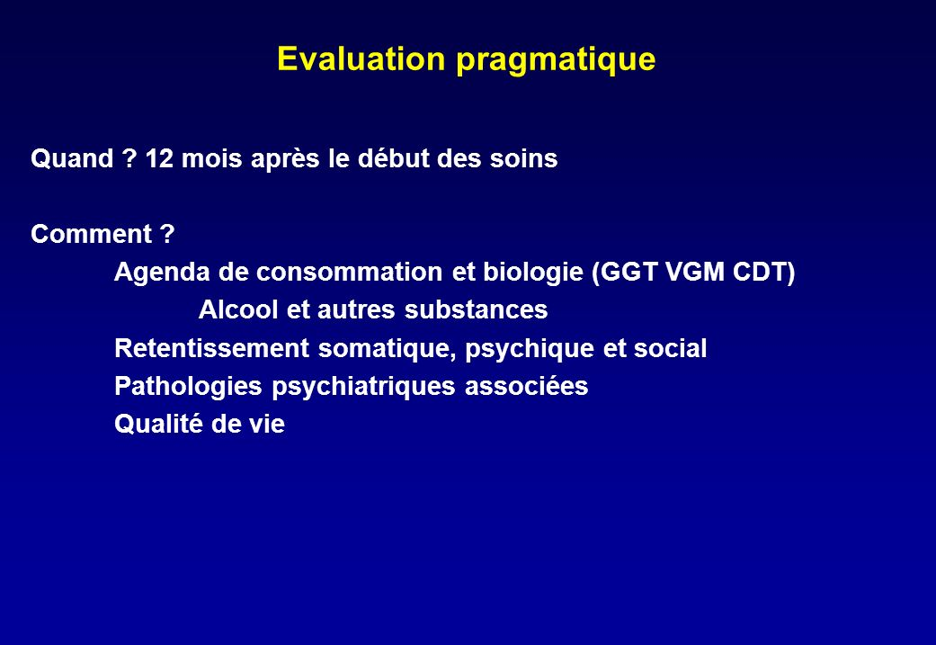 Evaluation pragmatique