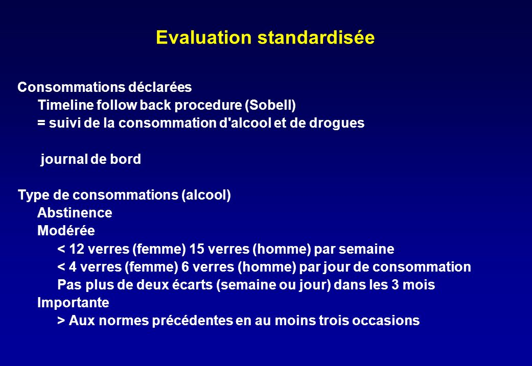 Evaluation standardisée