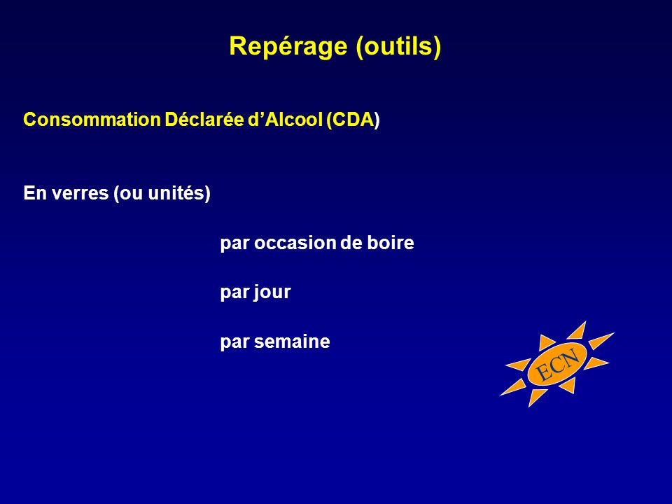 Repérage (outils) ECN Consommation Déclarée d'Alcool (CDA)