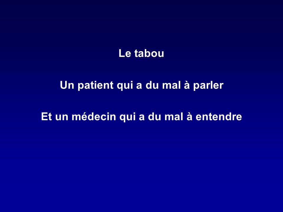 Un patient qui a du mal à parler Et un médecin qui a du mal à entendre