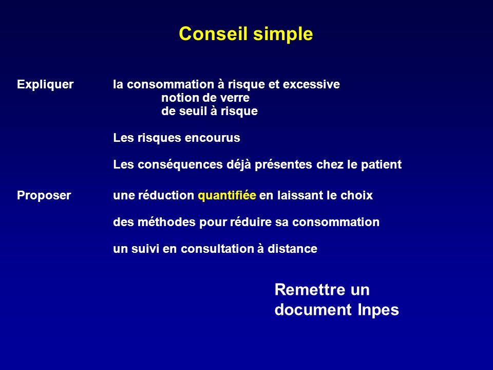 Conseil simple Remettre un document Inpes