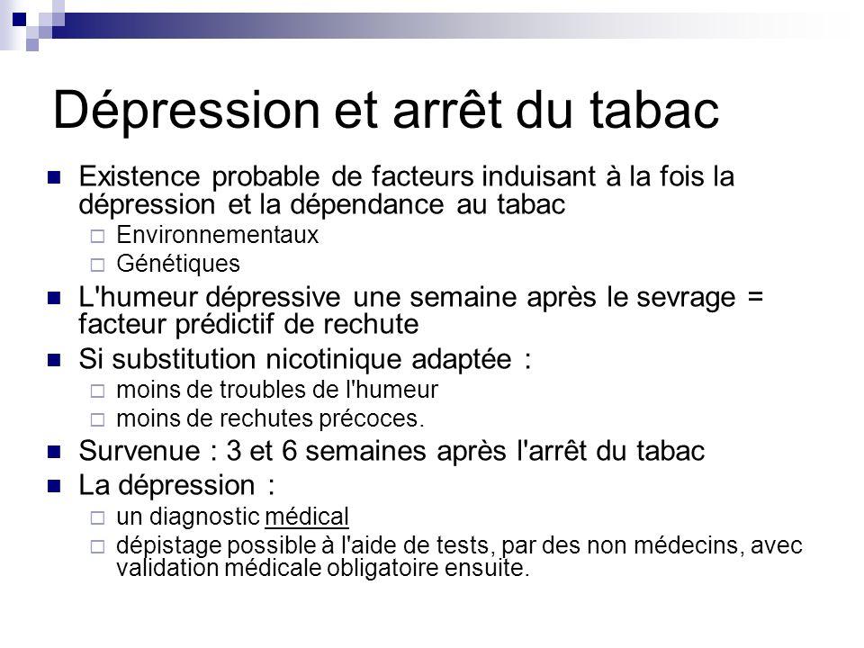 Dépression et arrêt du tabac