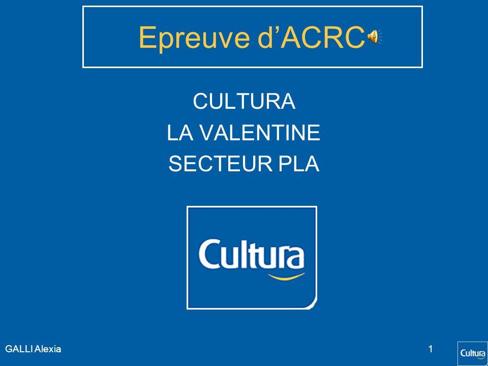 Epreuve d'ACRC CULTURA LA VALENTINE SECTEUR PLA GALLI Alexia