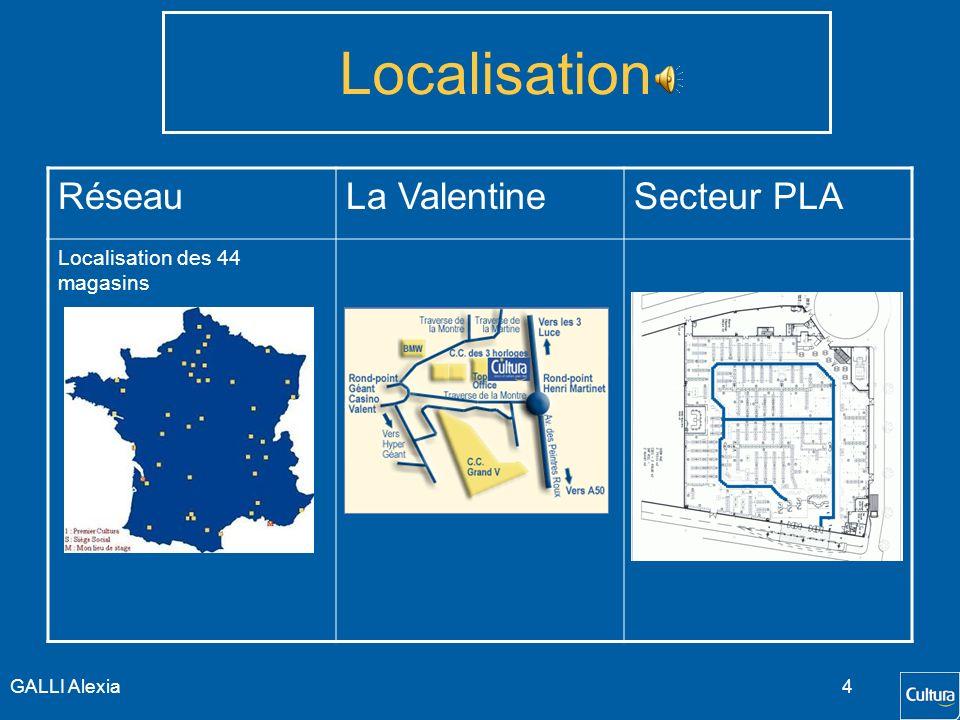 Localisation Réseau La Valentine Secteur PLA