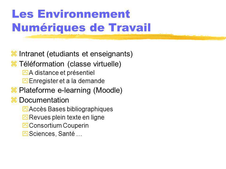 Les Environnement Numériques de Travail