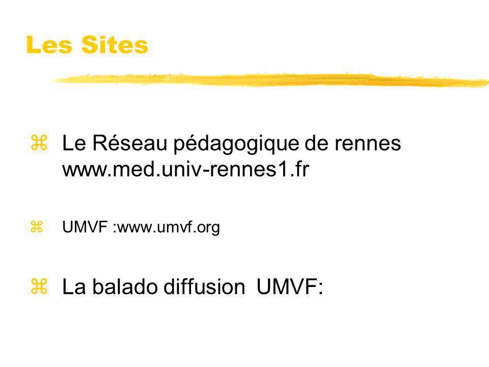Les Sites Le Réseau pédagogique de rennes www.med.univ-rennes1.fr