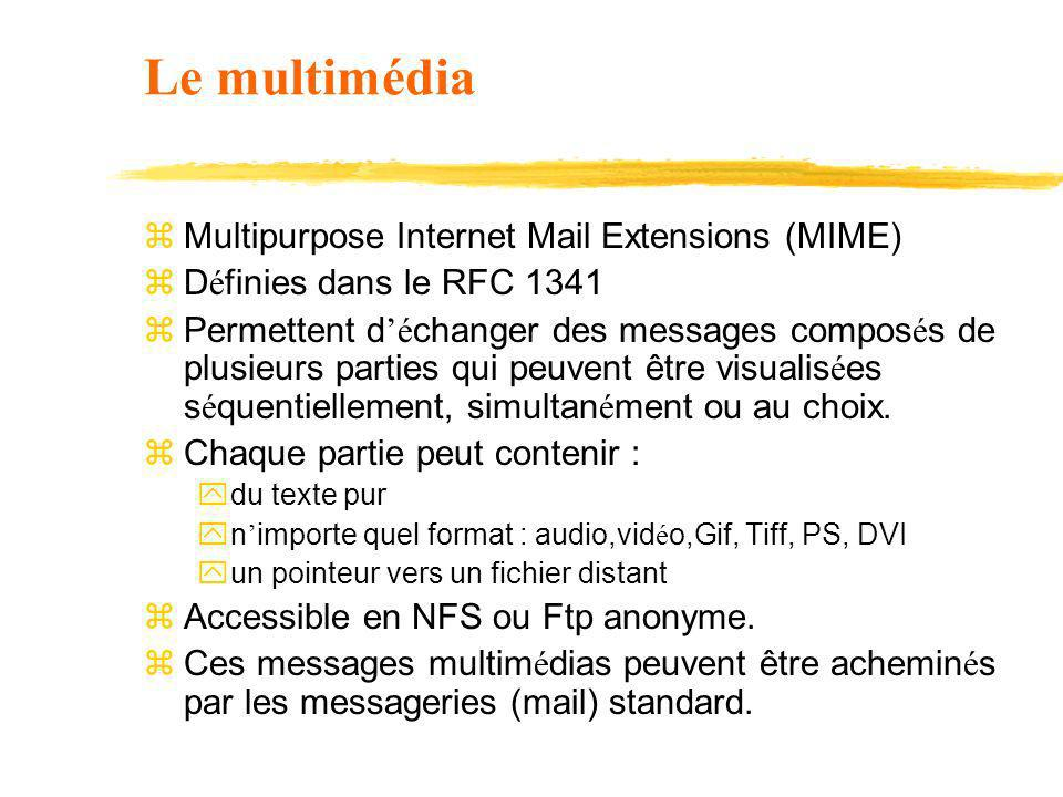 Le multimédia Multipurpose Internet Mail Extensions (MIME)