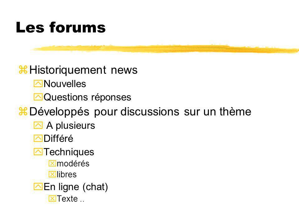 Les forums Historiquement news