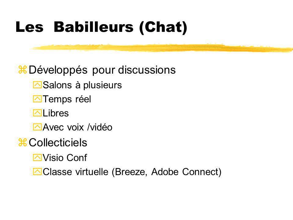 Les Babilleurs (Chat) Développés pour discussions Collecticiels