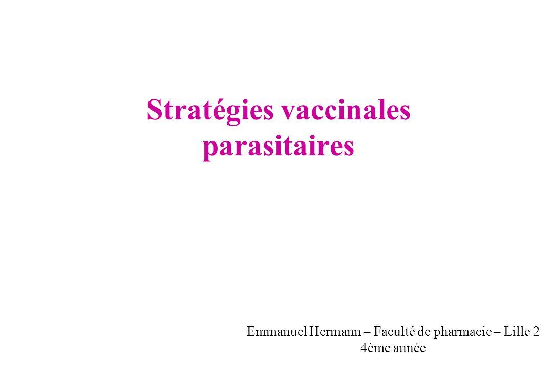 Stratégies vaccinales parasitaires