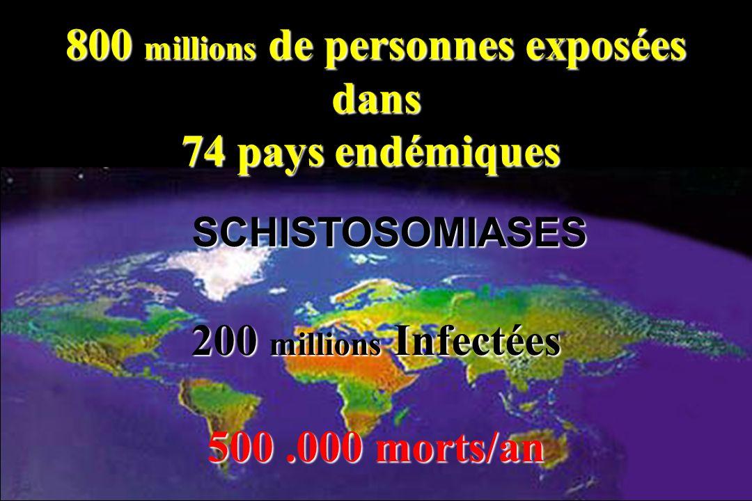 800 millions de personnes exposées