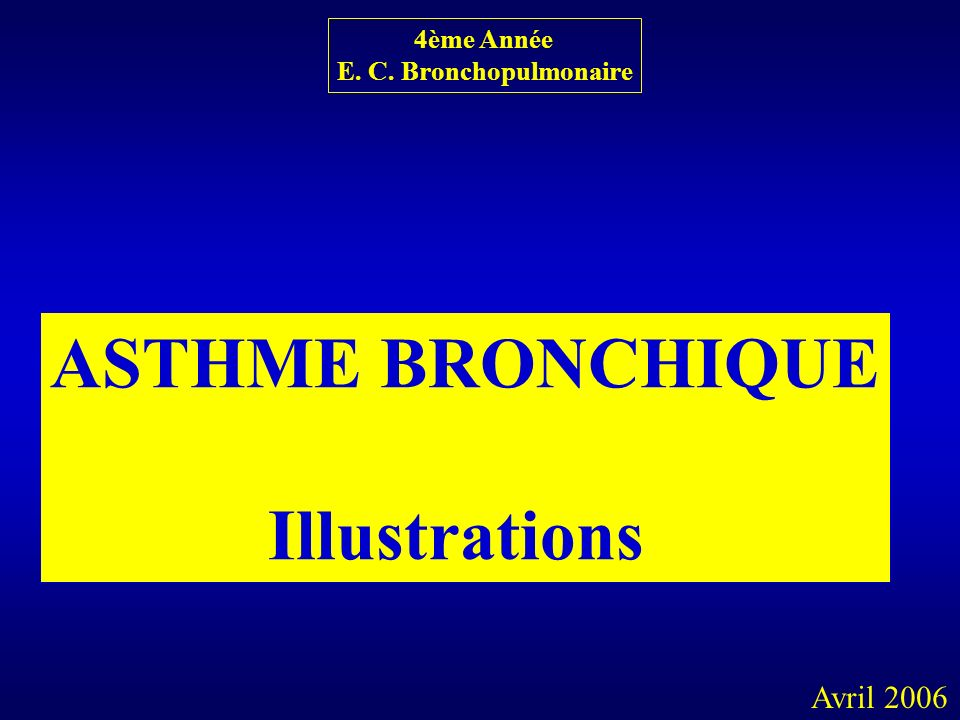 ASTHME BRONCHIQUE Illustrations