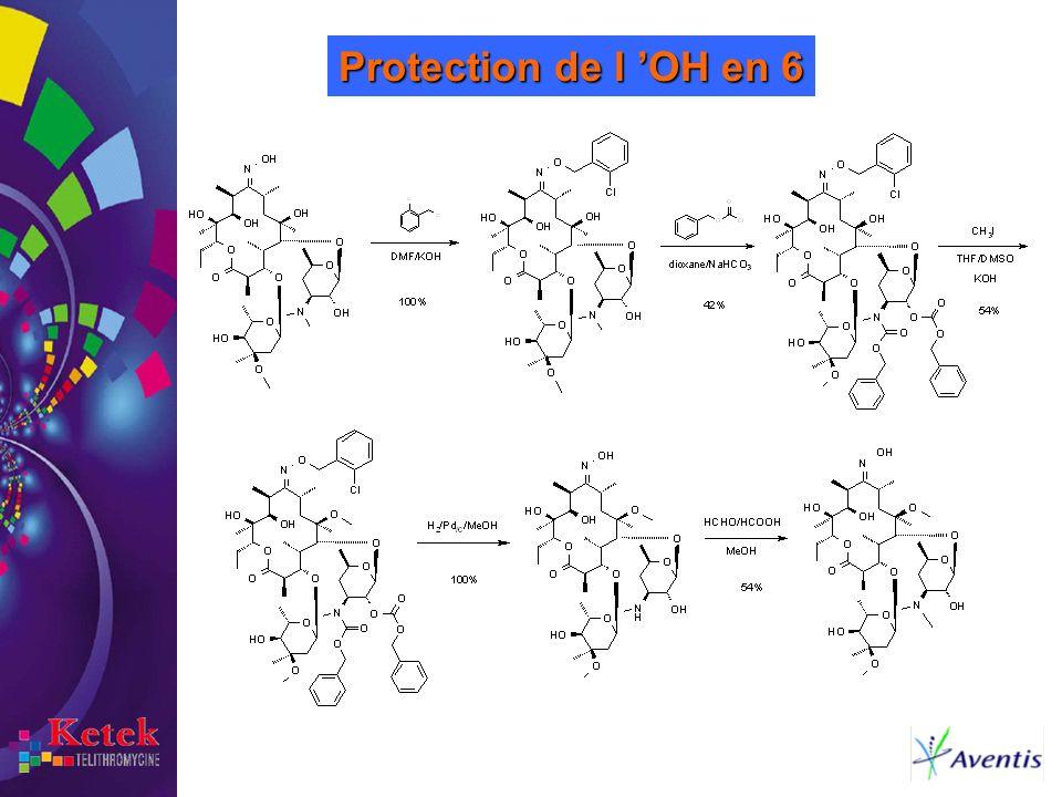 Protection de l 'OH en 6 Pour introduire une protection sur l'OH 6, il est nécessaire de procéder de la manière suivante: