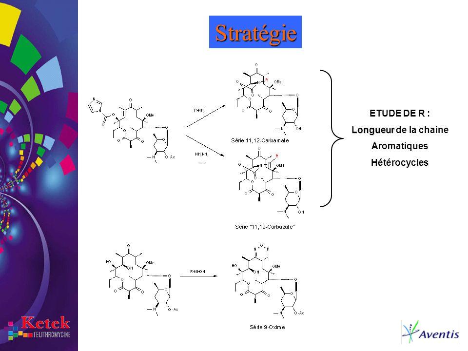 Stratégie ETUDE DE R : Longueur de la chaîne Aromatiques Hétérocycles
