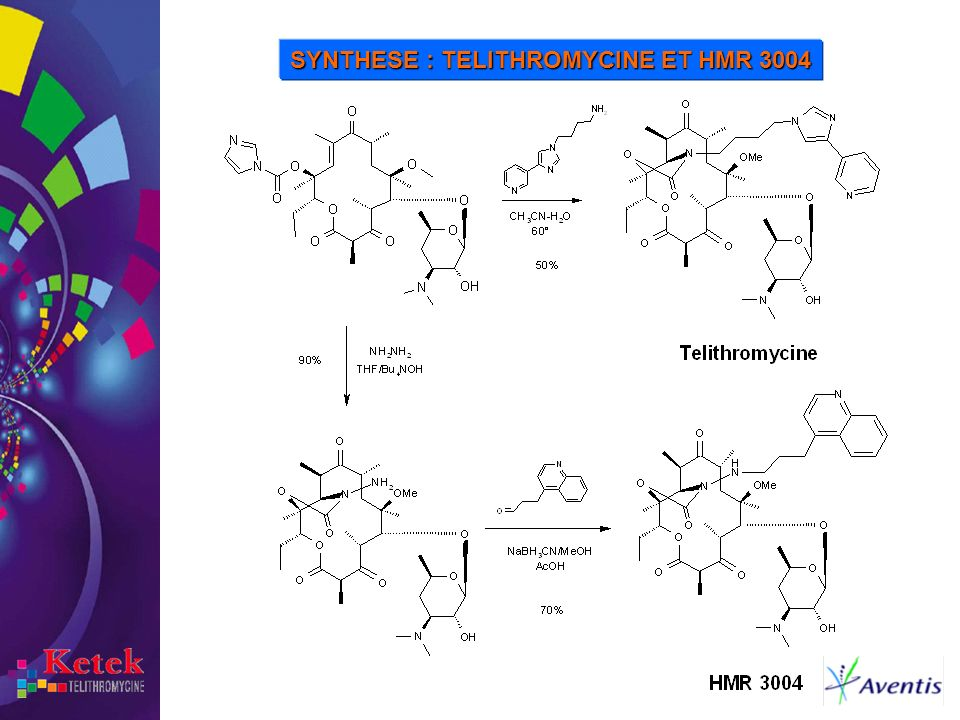 SYNTHESE : TELITHROMYCINE ET HMR 3004
