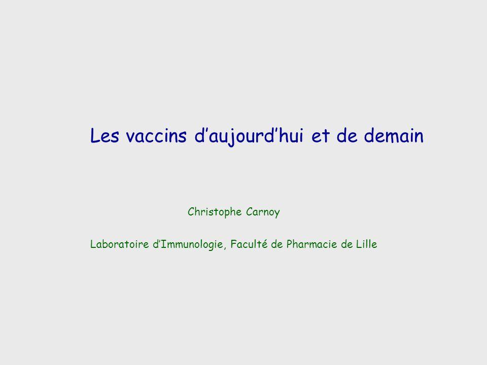 Les vaccins d'aujourd'hui et de demain