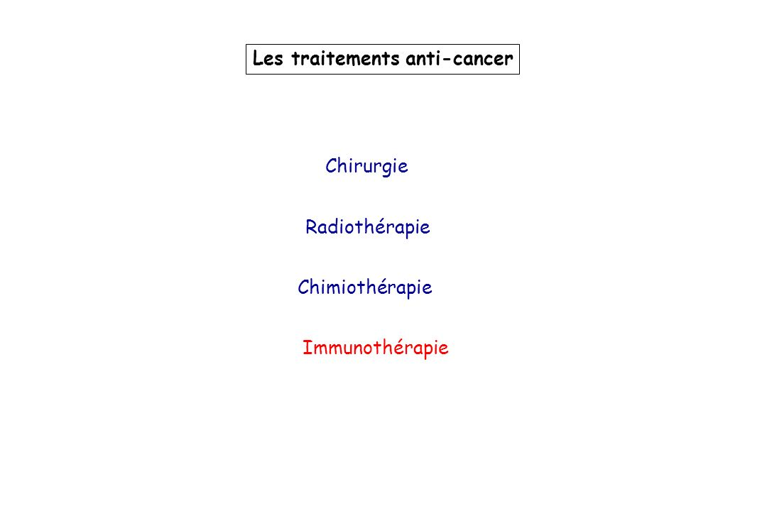 Les traitements anti-cancer
