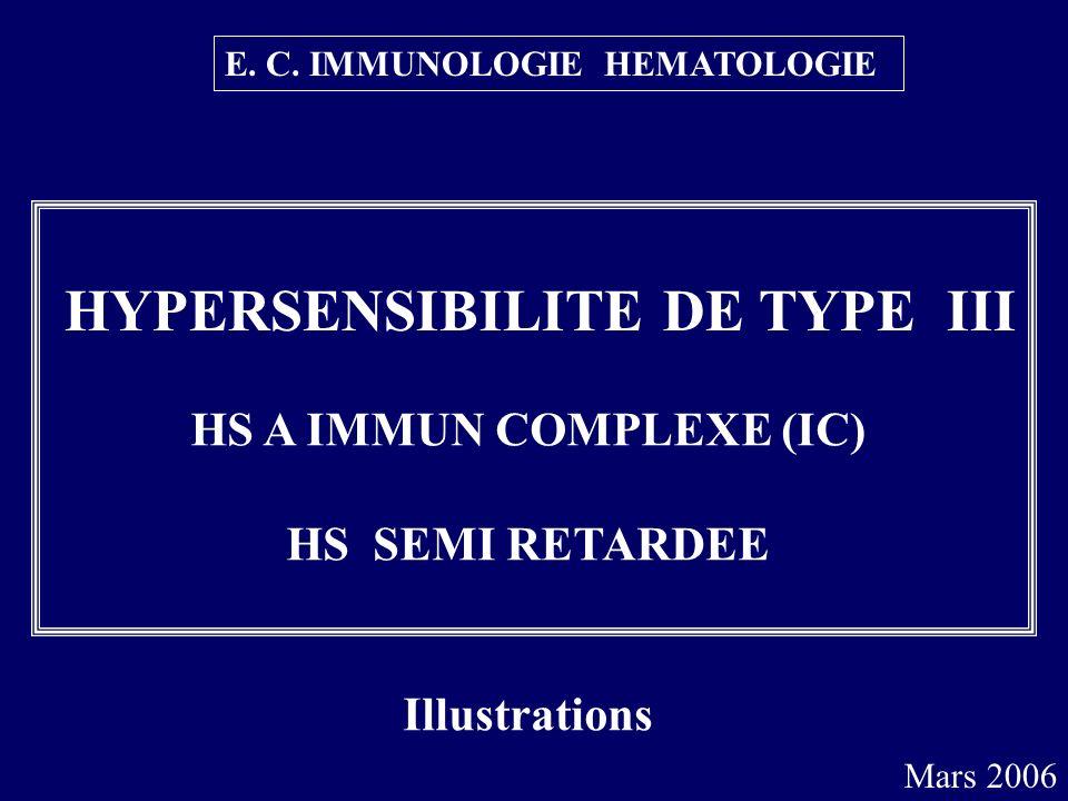 HS A IMMUN COMPLEXE (IC)