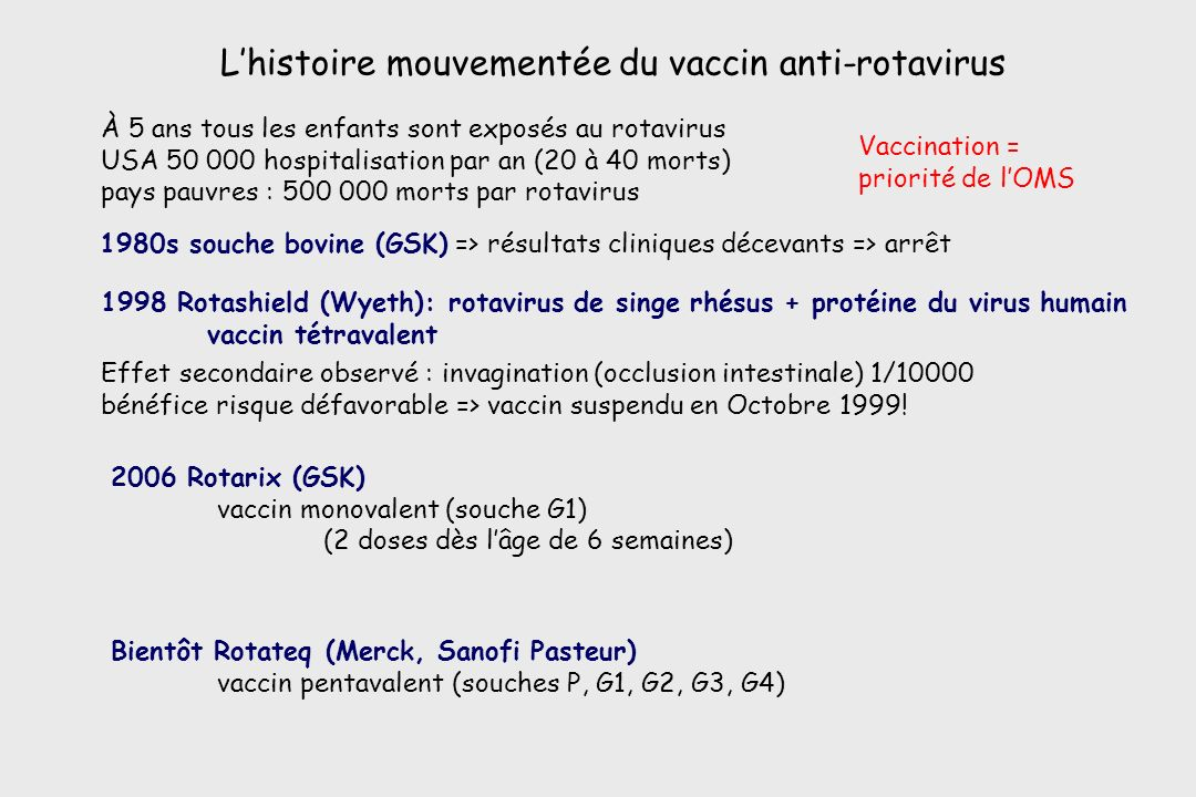 L'histoire mouvementée du vaccin anti-rotavirus