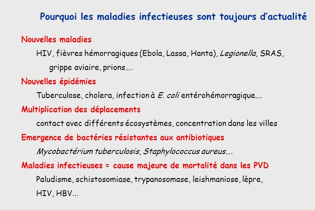 Pourquoi les maladies infectieuses sont toujours d'actualité