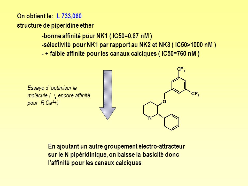 structure de piperidine ether