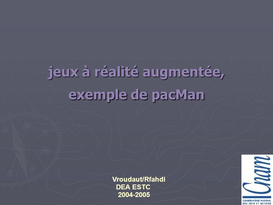 jeux à réalité augmentée, exemple de pacMan