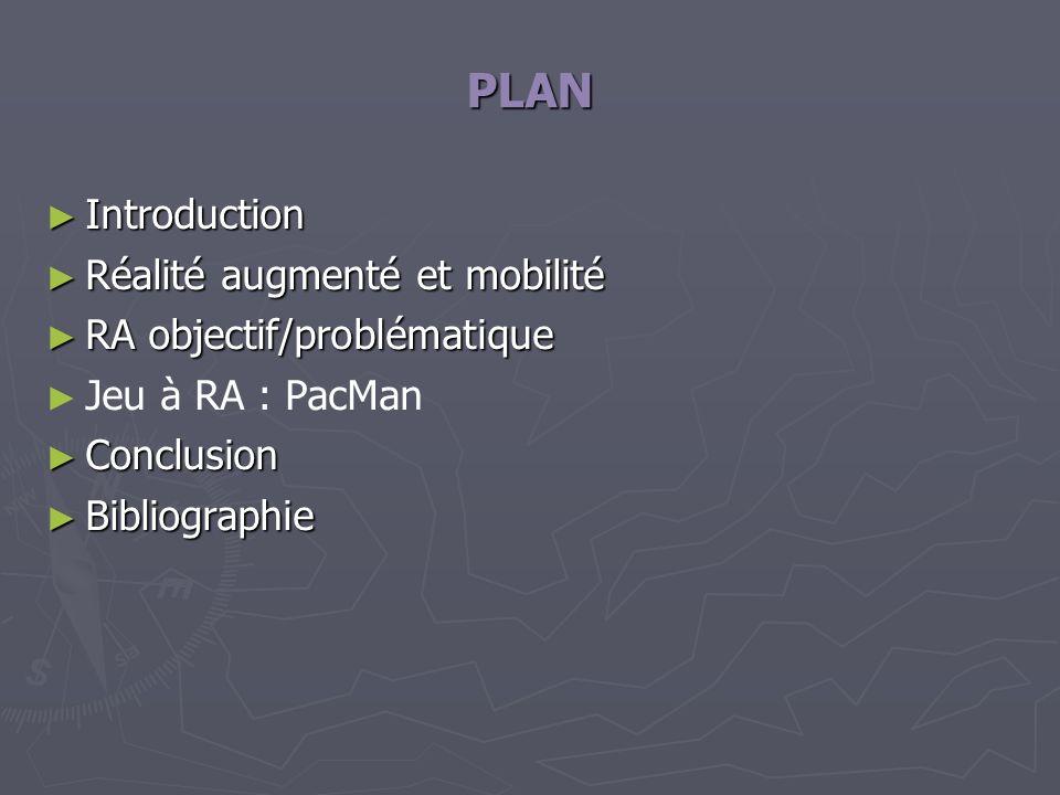 PLAN Introduction Réalité augmenté et mobilité